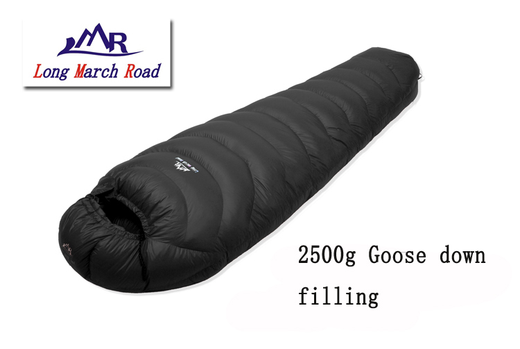 LMR 2500G duvet d'oie de remplissage en plein air camping épissage maman ultra-léger sac de couchage