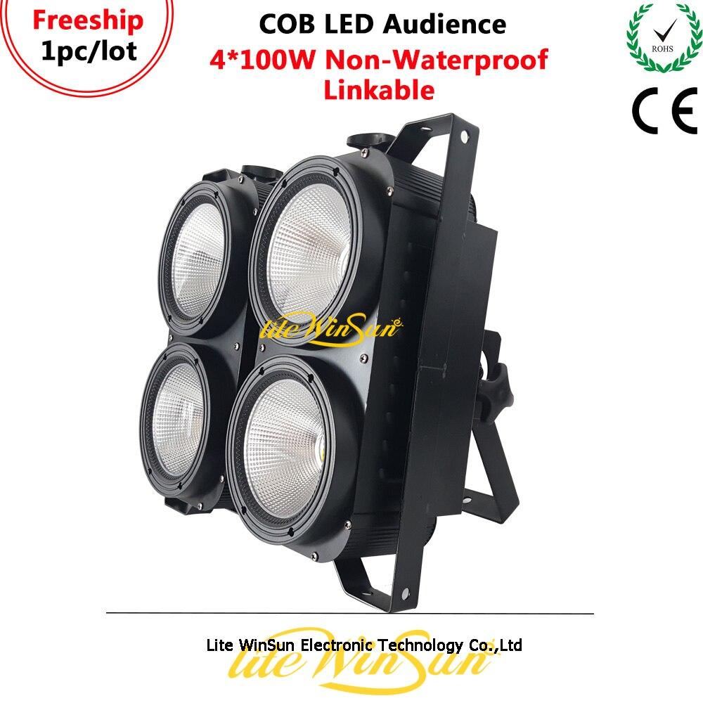 Litewinsune FREESHIP 2019 4*100W COB LED Blinder Audience Spliced Light 3200K 5600K 6500K CRI90