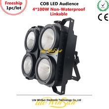 Litewinsune FREESHIP 2019 4*100W COB LED Blinder Audience Spliced Light 3200K 5600K 6500K CRI90 original simatic 6ed1055 1hb00 0ba0 logo dm8 24r expansion module 6ed1 055 1hb00 0ba0 2te 4 di 4 do 6ed10551hb000ba0 freeship