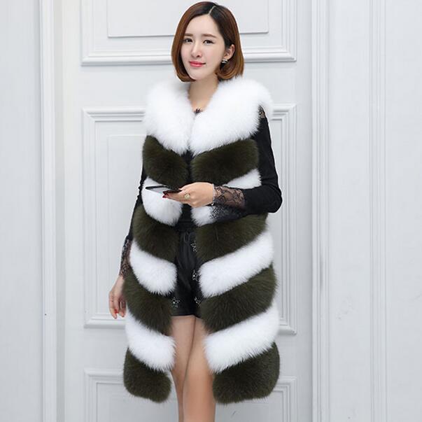 En Plus Sans Long Couleur De 2018 Arrivée Manteaux Taille Fourrure Femmes Nouvelle Gilet Df600 Veste Fausse Manches xX6PwHSw