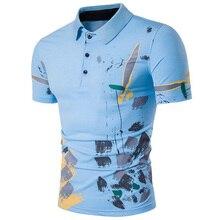 Zogaa Hot Sale Men Hipster Splash Ink Print Polo Shirt New Slim Fit Short Sleeve Hombre Summer Breathable