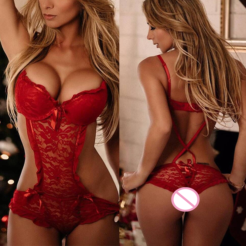 S-3XL Sexy Lingerie Hot Lace Porn Underwear Erotic Babydolls Red Teddies Lingerie Nightgowns Sleepwear Sexy Costumes Underwear
