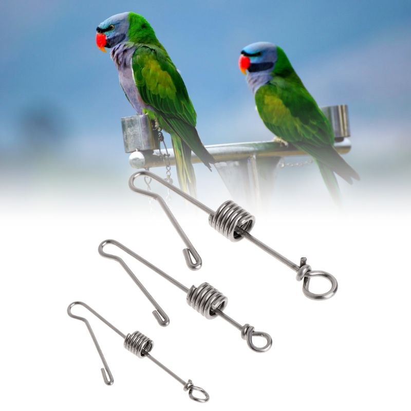 Bird Foot Rings Hot Sell Parrot Bird Leg Buckle Stainless Steel Opening Ring Outdoor Activity Anklet Ring Elegant And Sturdy Package Home & Garden