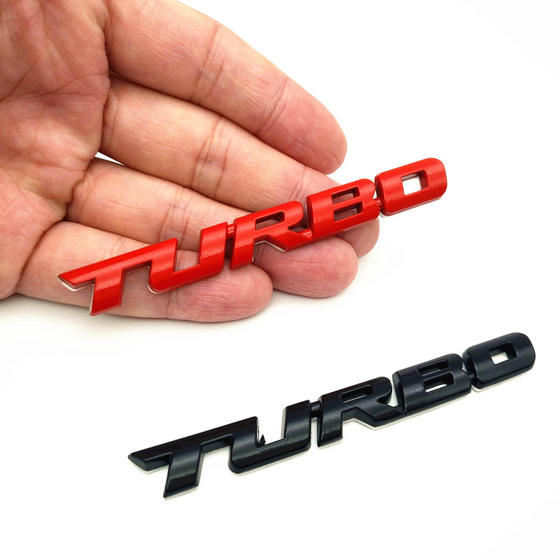 YONGXUN 3D Metal TURBO Emblem Car Styling Sticker Body Rear Tailgate Badge Rear Trunk Car Badge for Audi BMW Ford VW skoda car styling for mercedes benz g series w460 w461 w463 g230 g300 g350 chrome number letters rear trunk emblem badge sticker
