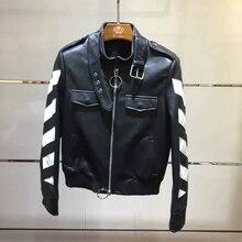 arlene sain women Women's classic leather clothing personality stripes free shipping 473