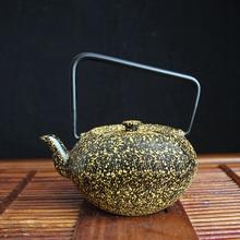 Бесплатная доставка подъемная ручка чайник цветной чайник, чугунная балка чайник