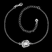 Foot Jewelry Lovely Shiny Zircon Pendants Charm Leg Ankle Bracelet Silver Anklets For Women