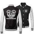 Hot Mens Radiohead Rock Band Logo Print New Autumn Outerwear & Coats Sportswear Buttons Janpan Style Baseball Varsity Jacket Men