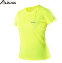 цены на ARSUXEO Summer Women's Running T Shirts Jogging Active Short Sleeves Quick Dry Training Jersey Running T-Shirt  в интернет-магазинах