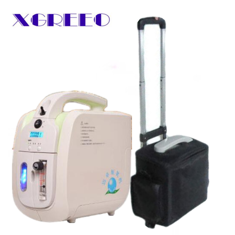 XGREEO JAY-1 Oxygen Concentrator with Battery Trolley Carry bag Car adaptor oxygen generator concentrator oxygen rhma 02
