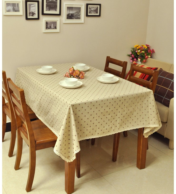 Daisy Fluid Rustic Dining Lace Tablecloth Rectangl.