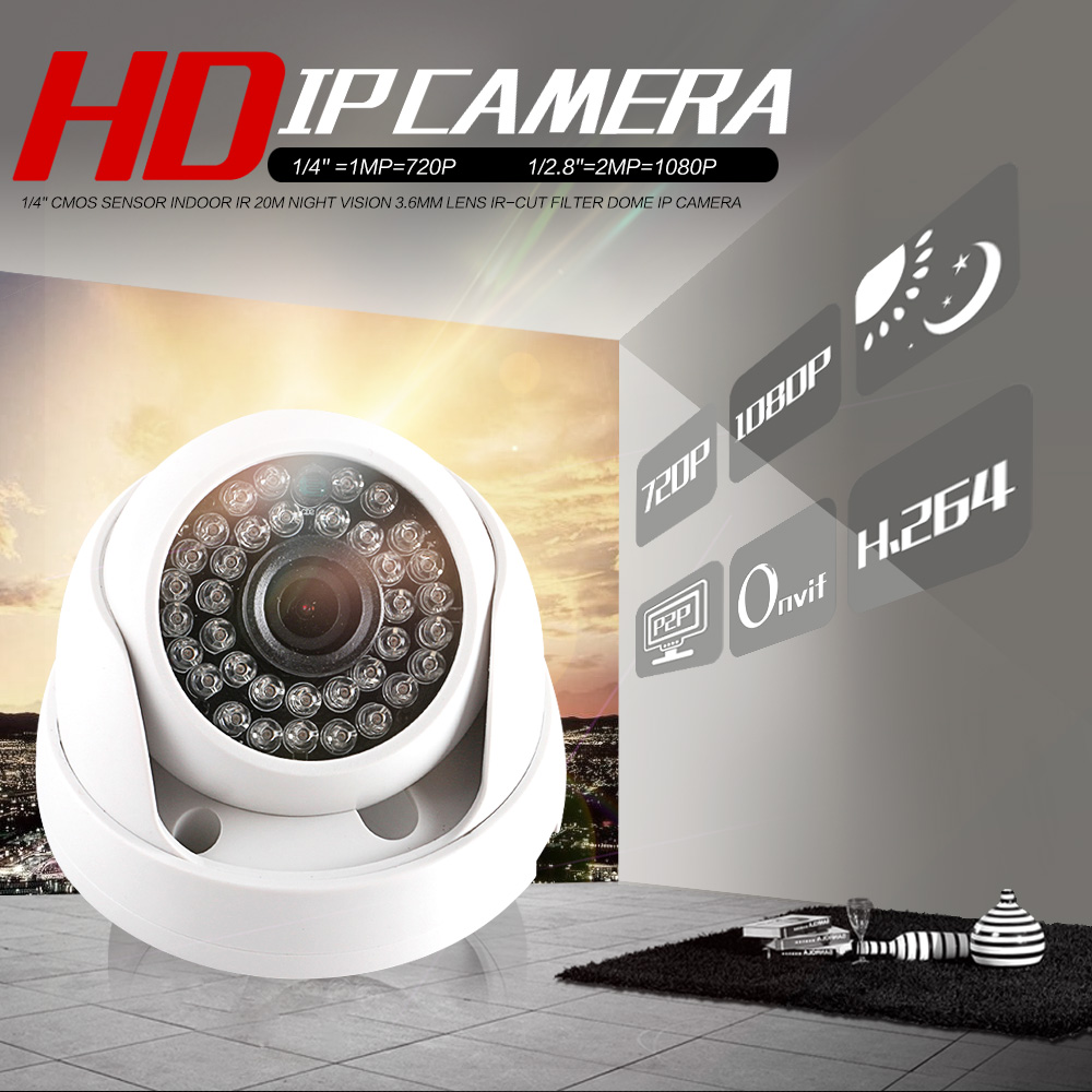 HD 720 P 1080 P IP Dome Kamera IR Objektiv 3,6mm 2MP IP CCTV Überwachungs Kamera Netzwerk Onvif p2P Android iOS XMEye P2P Ansicht
