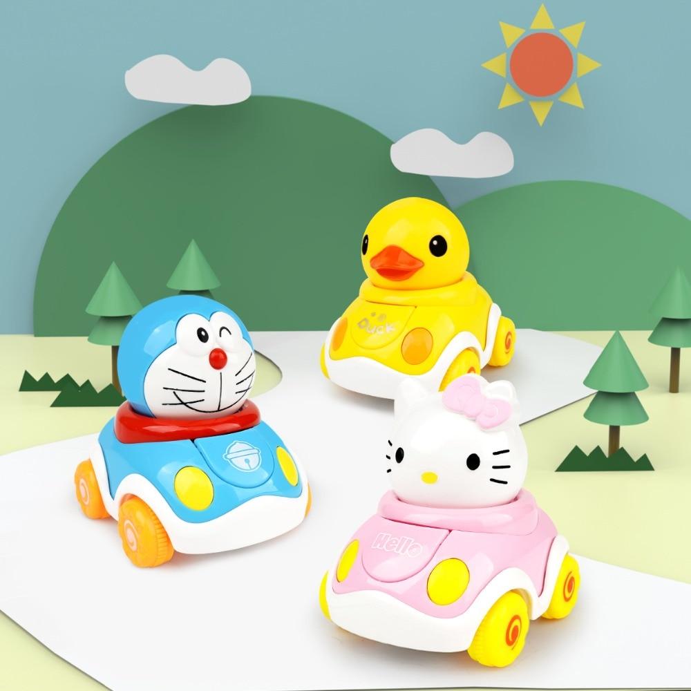 Jouet pour enfants voiture dessin animé inertie voiture tirer arrière Doraemon hellokitty jaune caneton garçon fille puzzle jouet créatif