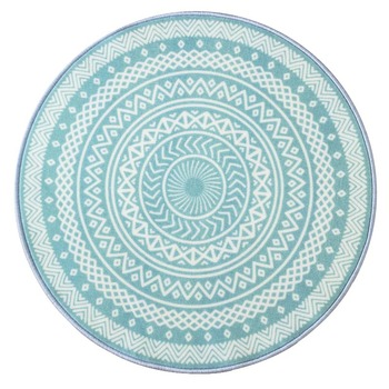 European Simple Style Geometry Printing Round Carpet Washable Non-slip Rug for Living room/Bedroom/Tea table mat/Swivel chair