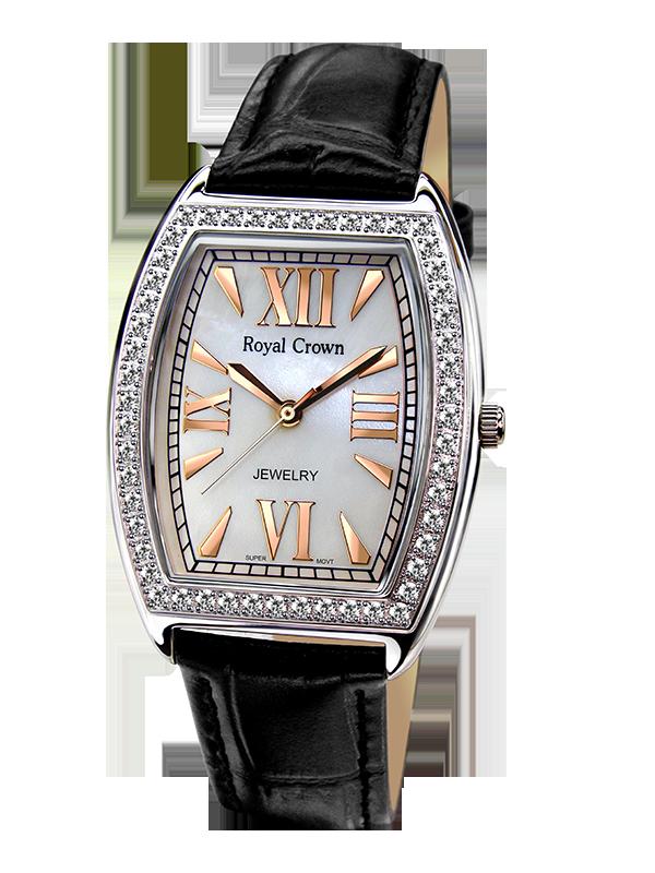 Royal Crown Jewelry Watch 3635M Italy brand Diamond Japan MIYOTA platinum diamond Rhinestone Ceramic Wristwatch For Party невидимки royal diamond заколка