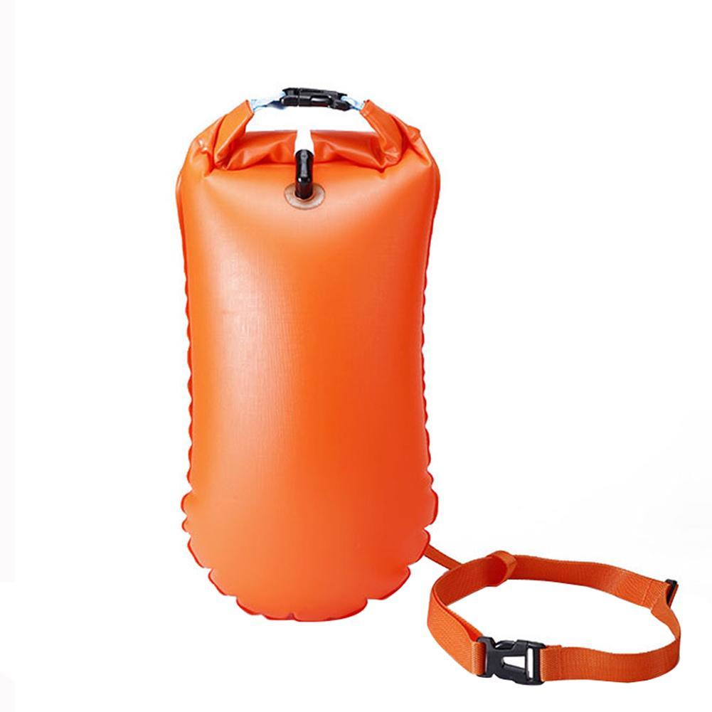 Inflatable Flotation Bag Life Buoy PVC Waterproof Dry Bag Swimming Backpack Kayak Rafting Drifting Camping Hiking Rucksack