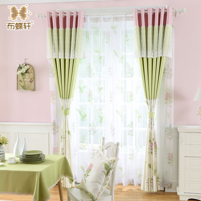Korean Style Fresh Elegant Curtains For Bedroom Living Room Red ...