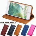 Musubo Luxury Leather Case for apple iPhone 7 plus Magnet Flip Cases Cover For iphone 6 Plus 6s Stand Wallet with free film