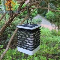 BRIGHTINWDLed Household Solar Lamp IP55 Outdoor Waterproof European Candle Pendant Lamp Hanging Umbrella Light Garden Yard Light