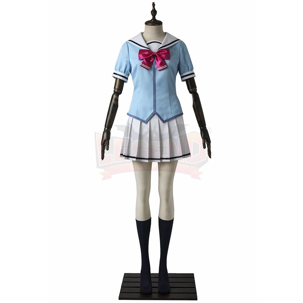 BanG Dream! high school uniform girl uniform Cosplay Costume All Size Custom Made halloween women costume