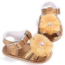 Fashion Leather Flower Girl Shoes Beach Firstwalkers Baby Girl Summer Garden Toddler Shoes Slip-resistant baby Moccasins Bebes