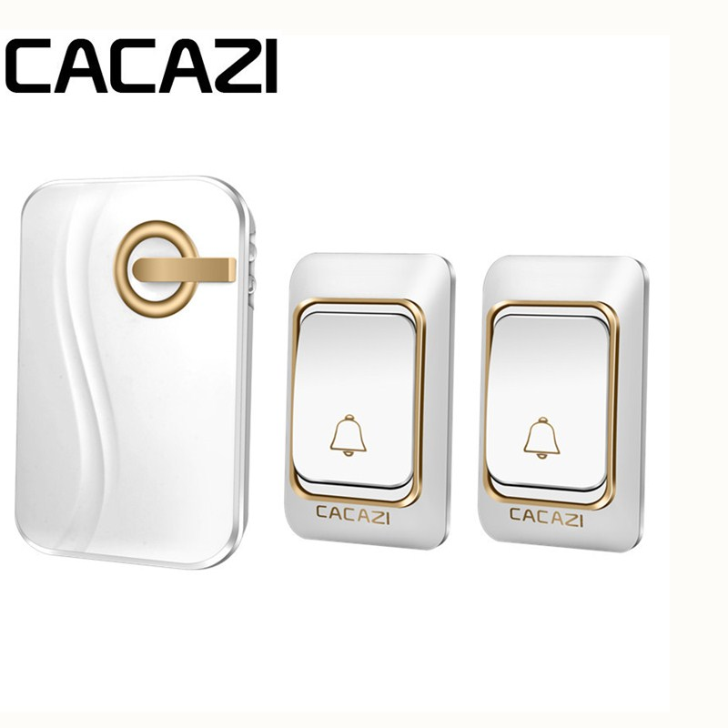 CACAZI Remote Range Smart Wireless Doorbell DC Battery Operated Remote Control Waterproof Doorbell Rings 6 Volume Door Chime 36 cacazi white black long range wireless doorbell dc battery operated 300 m remote control doorbell rings 6 volume door chime 48