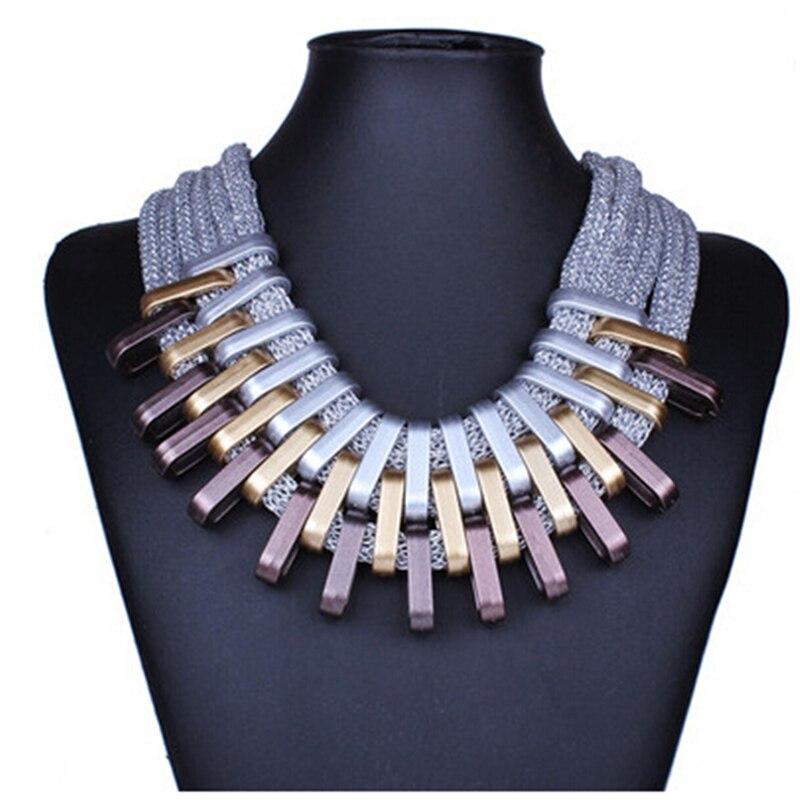2019 nouveau acrylique Punk Vintage mode colliers et pendentifs femmes déclaration collier dégradé gouttes tour de cou Maxi Colar Feminino 2