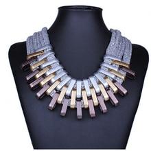2018 New Acrylic Punk Vintage Fashion Necklaces &Pendants Women Statement Necklace Gradient Drops Choker Maxi Colar Feminino
