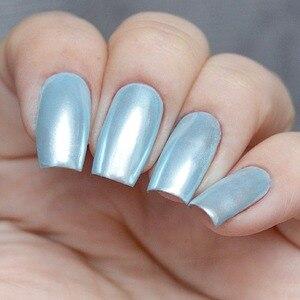 Image 4 - 1 caja de polvo de perlas para uñas, brillantes, lentejuelas, pigmento de polvo cromado, decoración de uñas de Color claro