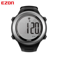 EZON Men Watches T007 Heart Rate Monitor Digital Watch Stopwatch Running Sports Wrist Watches with Chest Strap Relogio Masculino