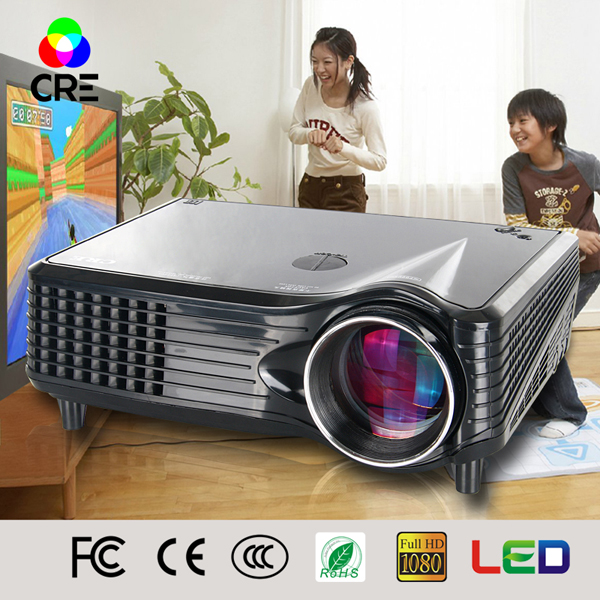 Cre x300 Marca Mini Portátil de Bolsillo HD LED/LCD Proyector de DVD Home cine T