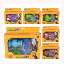 PVZ Plants vs Zombies Pea shooter PVC Action Figure Model Toy Plants Vs Zombies Brinquedos Kids  Dolls Birthday Gift plants vs zombies shooter kernel pult educational toy gift toy with zombie 3 ball