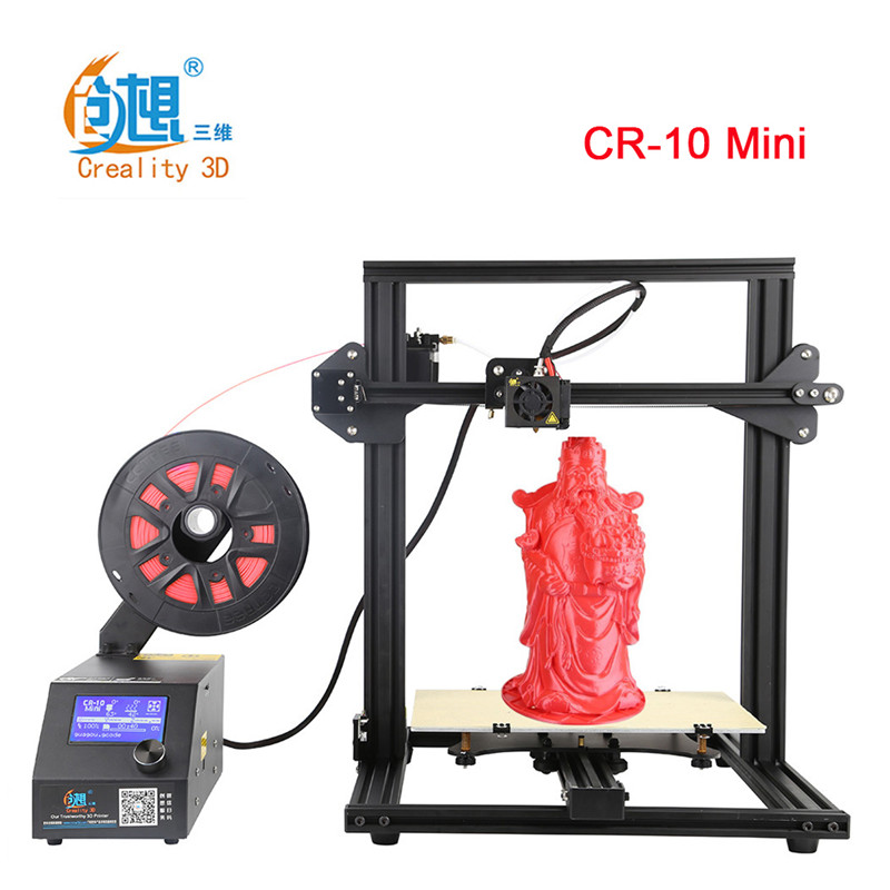 Creality 3D CR-10 Mini DIY 3D Printer Large Prusa I3 DIY Kit Print Size 300*220*300 MM Auto Resume Print after Power Interrupt metal frame linear guide rail for xzy axix high quality precision prusa i3 plus creality 3d cr 10 400 400 3d printer diy kit