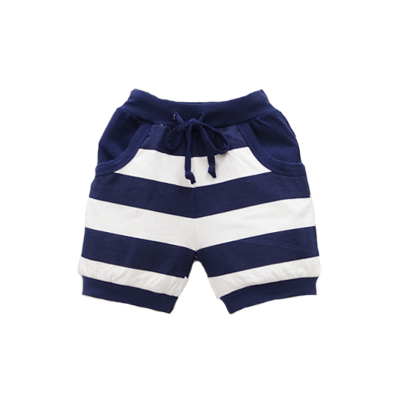Baby   Shorts   Pure Cotton Children Striped New Clothes Boys Sports Clothing 2019 Little Q Elastic Waist Suits