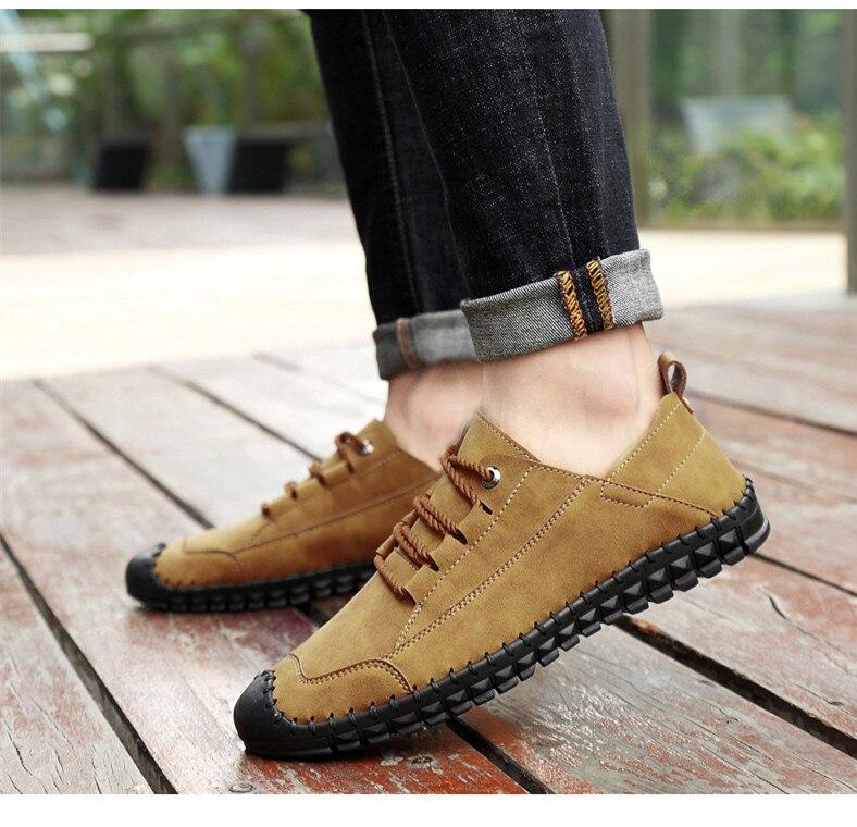 HTB16v4dayDxK1RjSsphq6zHrpXag - 2019 New Fashion Leather Spring Casual Shoes Men's Shoes Handmade Vintage Loafers Men Flats Hot Sale Moccasins Sneakers Big Size