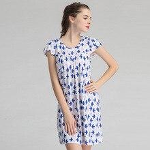 c6b010a17b4e3 Summer One-piece Built In Bra Padded Sleepwear Women Short Sleeve O-Neck  Nightdress Modal Nightgown Woman Casual Home Dresses