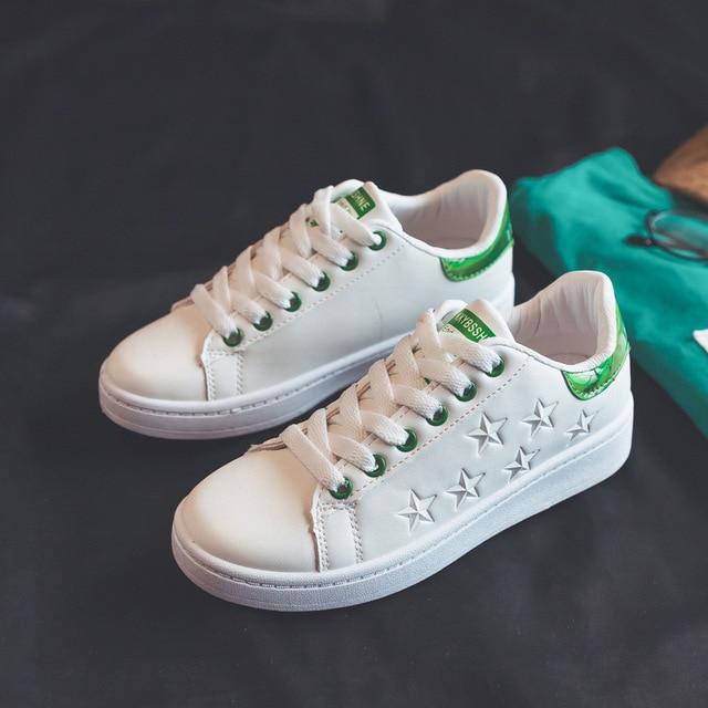 24b46aa8be2 Mulher tênis branco sapatos de plataforma 2018 primavera sapatos casuais  Não-slip PU cordões de