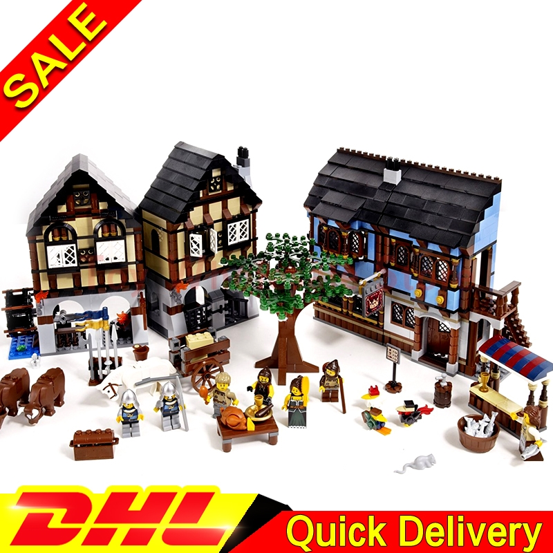 Lepin 16011 1601Pcs Castle Series Medieval Manor Castle Set Educational Building Blocks Bricks Model lepins Toy Gift Clone 10193 lepin 16008 cinderella princess castle city 4080pcs model building block kid lepins toy gift clone 71040
