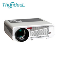 Free Four Gift 100 Inch Screen Bracket Full HD LED Projector Daytime LCD 3D 220W 4500lumens