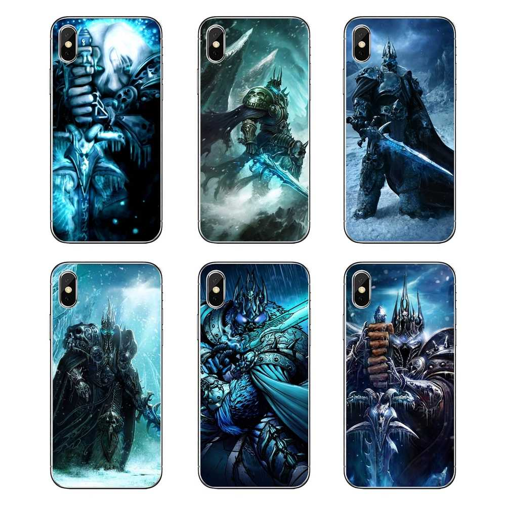 Arthas el Rey Exánime juego Heroes of the Storm vaya fundas de silicona para iPod Touch iPhone 4 4 4S 5 5S 5C SE 6 6S 7 8 X XR XS Plus.