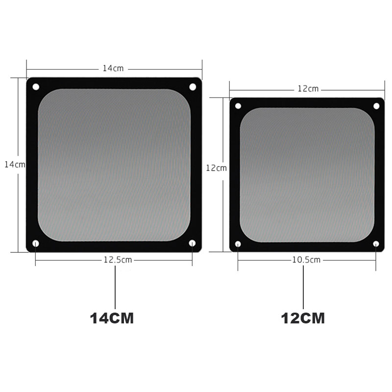Image 3 - En Labs 12CM Magnetic Frame Black Mesh Dust Filter PC Cooler Fan Filter with Magnet , 120x120mm Dustproof Computer Case Cover-in Fans & Cooling from Computer & Office