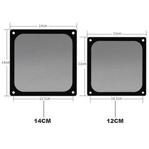 Image 3 - En Labs 12CM Magnetic Frame Black Mesh Dust Filter PC Cooler Fan Filter with Magnet , 120x120mm Dustproof Computer Case Cover