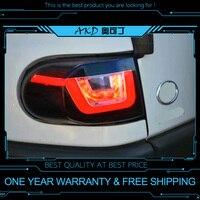 AKD tuning cars Tail lights For Toyota FJ Cruiser FJ150 Taillights LED DRL Running lights Fog lights angel eyes Rear parking