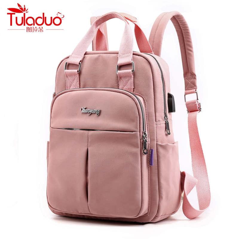 2020 VIP Fashion Multi-pocket Ladies Backpacks Large Capacity Women Backpacks Famous Brand Solid School Bag For Teeanger Girls