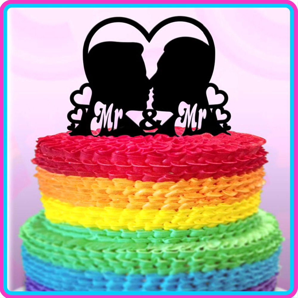 Pleasant Mr Mr Wedding Cake Topper Gay Fabulous Wedding Cake Topper Funny Birthday Cards Online Overcheapnameinfo