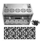 Crypto Coin Open Air Mining Frame Rig Graphics Case For 10-12 GPU ETH BTC + Fans