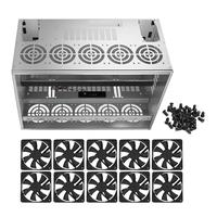 Crypto Coin Open Air Mining Frame Rig Graphics Case For 10 12 GPU ETH BTC Fans