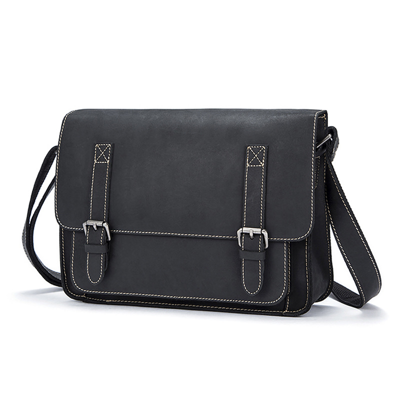 Crazy Horse Leather Men's Shoulder Bag Large Capacity Computer Messenge Bag New Fashion Business Briefcase Men Handbag Bags 6 amp 3 9mh epoxy resin embedding common mode choke inductor