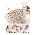 1 Folhas New lovely Girl diário transparente cara adesivo adesivos decorativos
