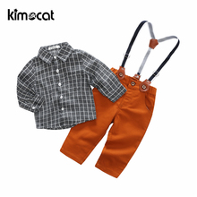 Kimocat Boys Clothing Set 2pcs Shirt+Pants Fashion Cute Infant Newborn Baby Boy Clothes Outfit Cotton Baby Tracksuit Set cotton 2pcs newborn clothes cute cartoon baby boy clothes tops pants outfit suits baby tracksuit set t08